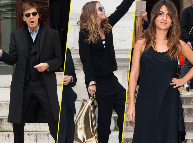 Paul McCartney, Cara Delevingne, Géraldine Nakache... Du pep's et de la bonne humeur au défilé Stella McCartney !