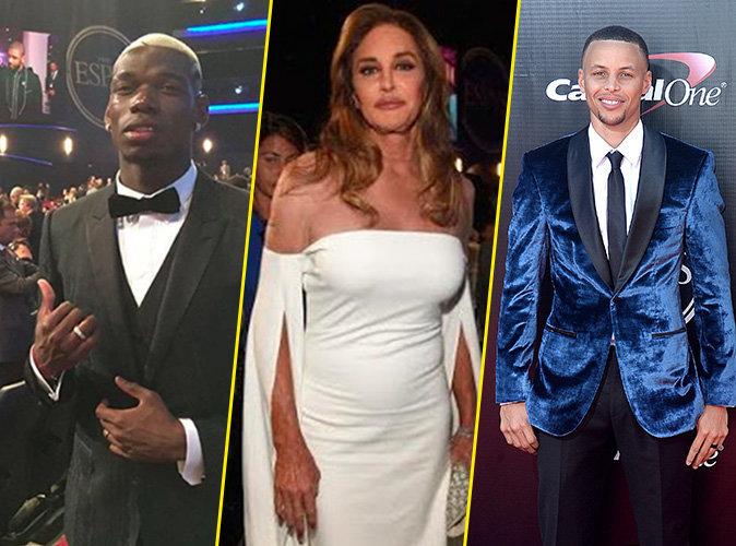 Photos : Paul Pogba, Caitlyn Jenner, Stephen Curry... les sportifs sur leurs 31 pour les ESPY Awards !