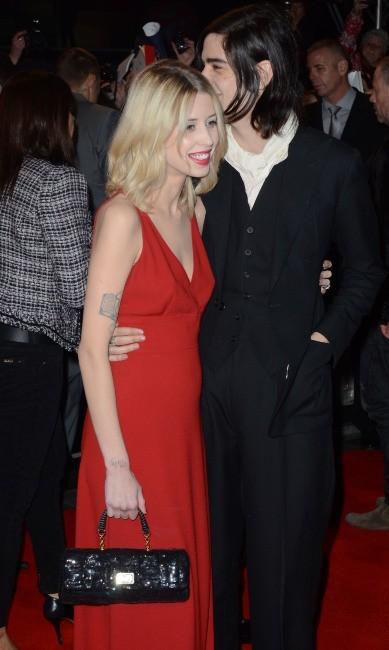 Peaches Geldof et Thom Cohen lors de la première du dernier volet de Twilight à Londres, le 14 novembre 2012.