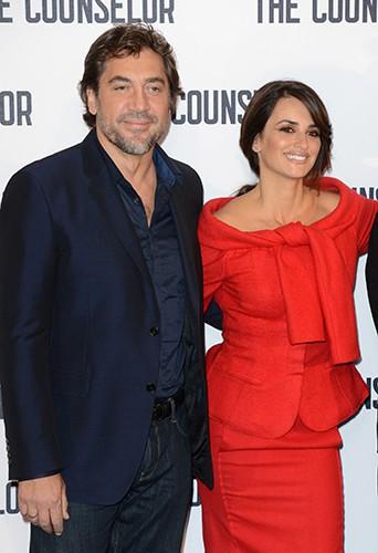 Javier Bardem et Penelope Cruz à Londres le 5 octobre 2013