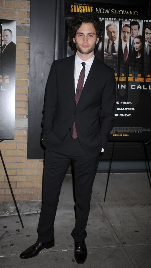 Penn Badgley à l'avant-première Margin Call hier à New-York !