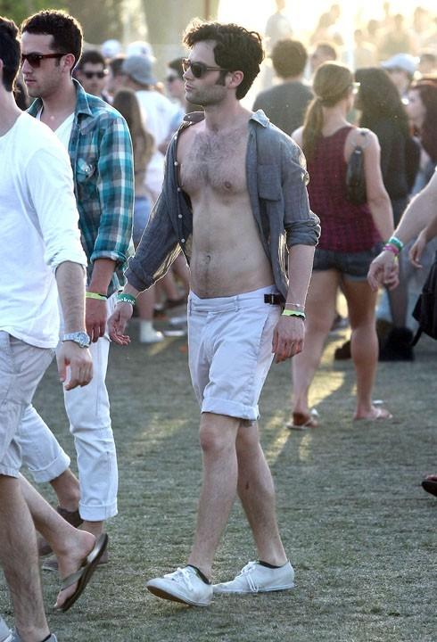 Penn Badgley au Festival de Coachella, le 16 avril 2011.
