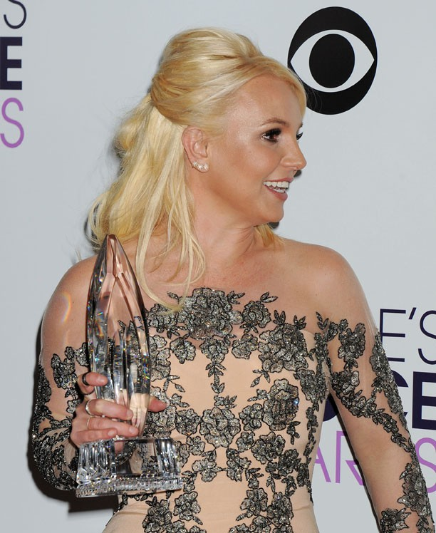 Britney Spears à la cérémonie des People's Choice Awards organisée à Los Angeles le 8 jnvier 2013