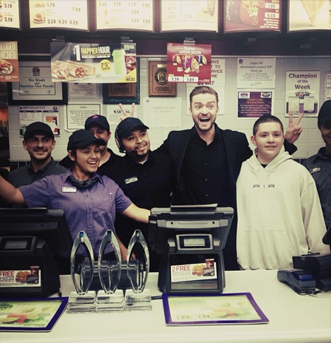 Justin Timberlake : son after ? Une soirée fast-food !