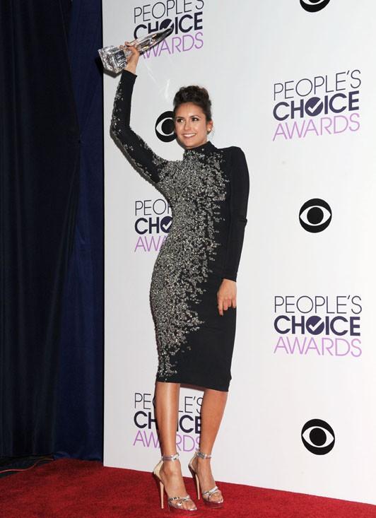 Nina Dobrev à la cérémonie des People's Choice Awards organisée à Los Angeles le 8 janvier 2014