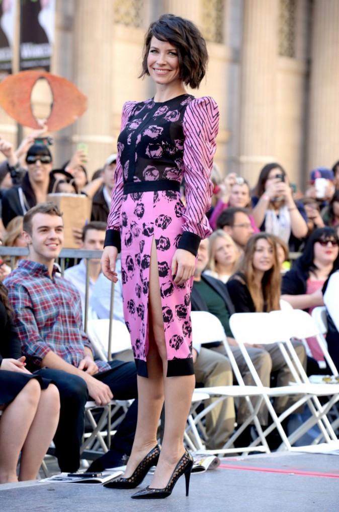 Evangeline Lilly et Andy Serkis le 8 décembre 2014
