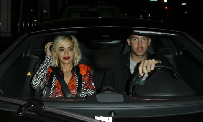 Rita Ora et Calvin Harris à Beverly Hills le 14 octobre 2013