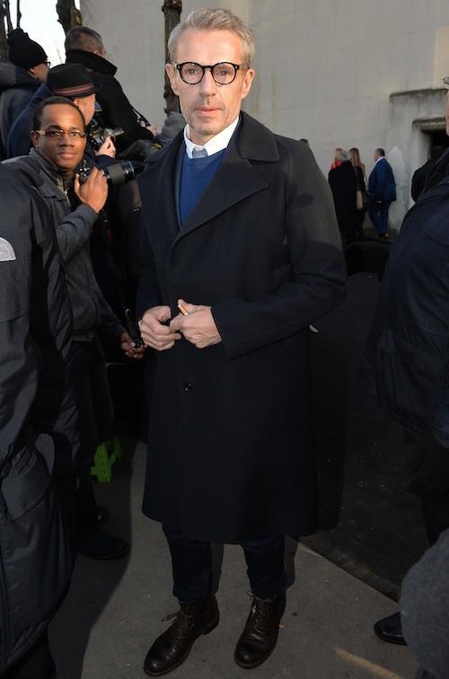 Lambert Wilson au défilé Dior Homme le 24 janvier 2015
