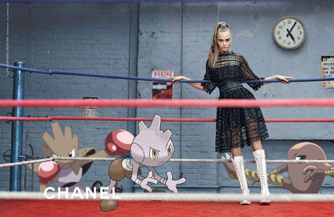 Cara Delevingne x Chanel x Pokémon