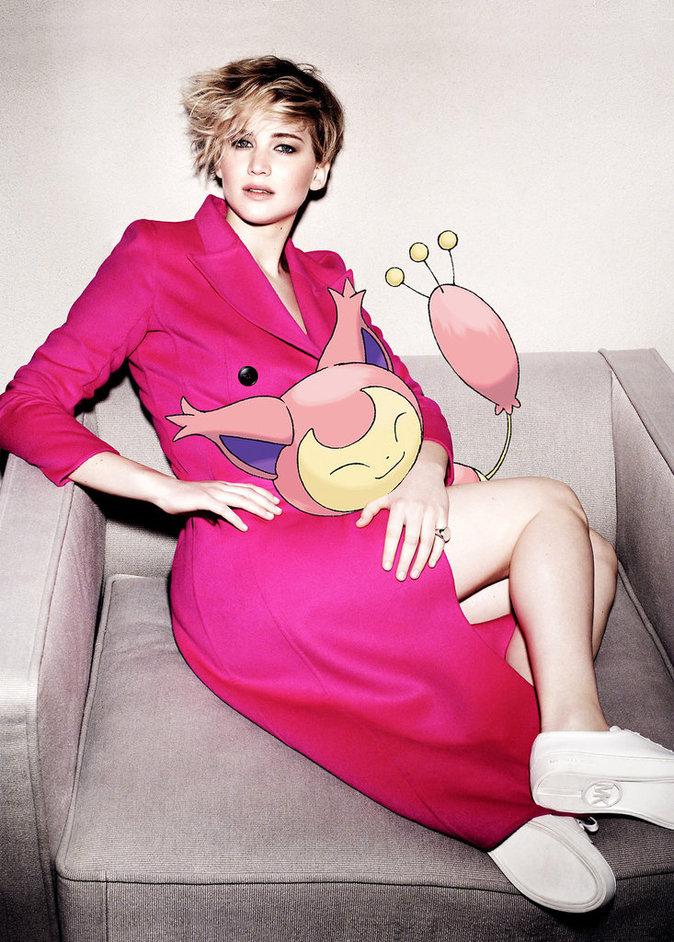 Jennifer Lawrence x Marie Claire x Pokémon