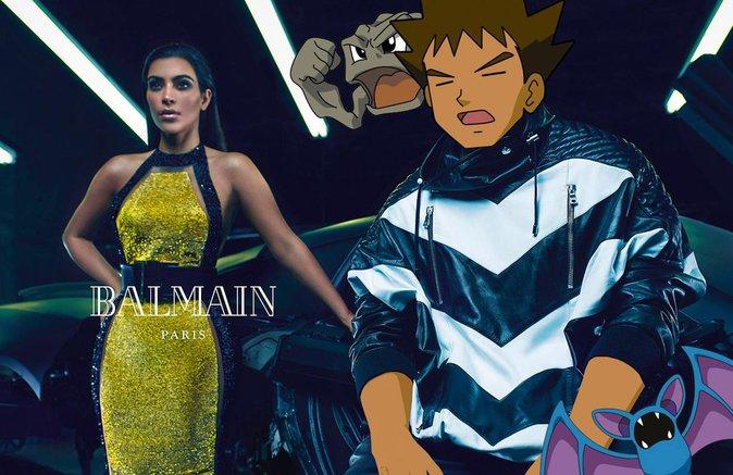 Kim Kardashian x Balmain x Pokémon