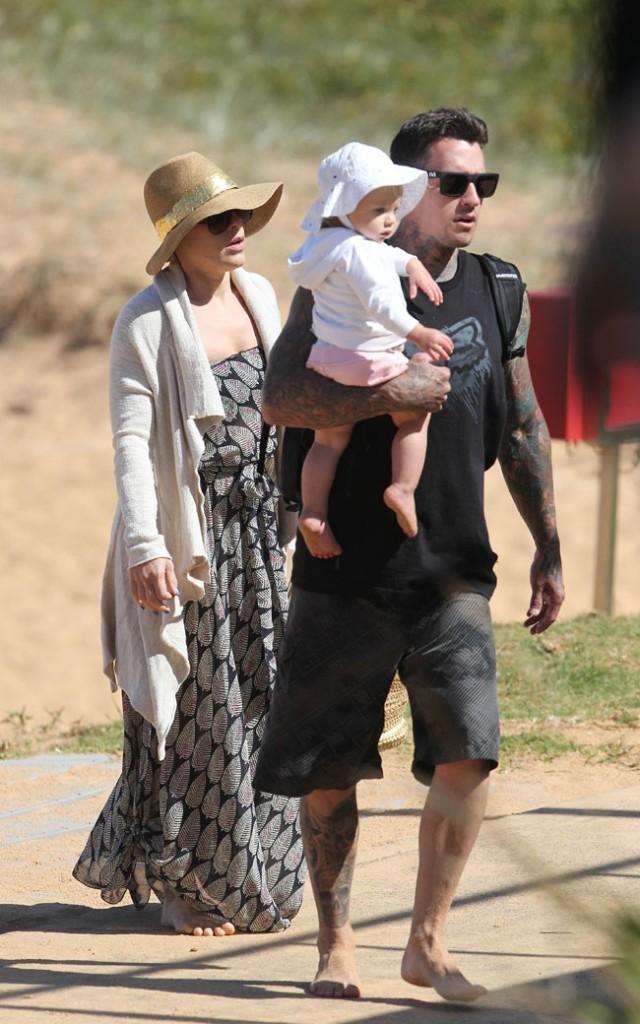 Pink, Carey Hart et Willow Sage le 24 septembre 2012 à Sydney