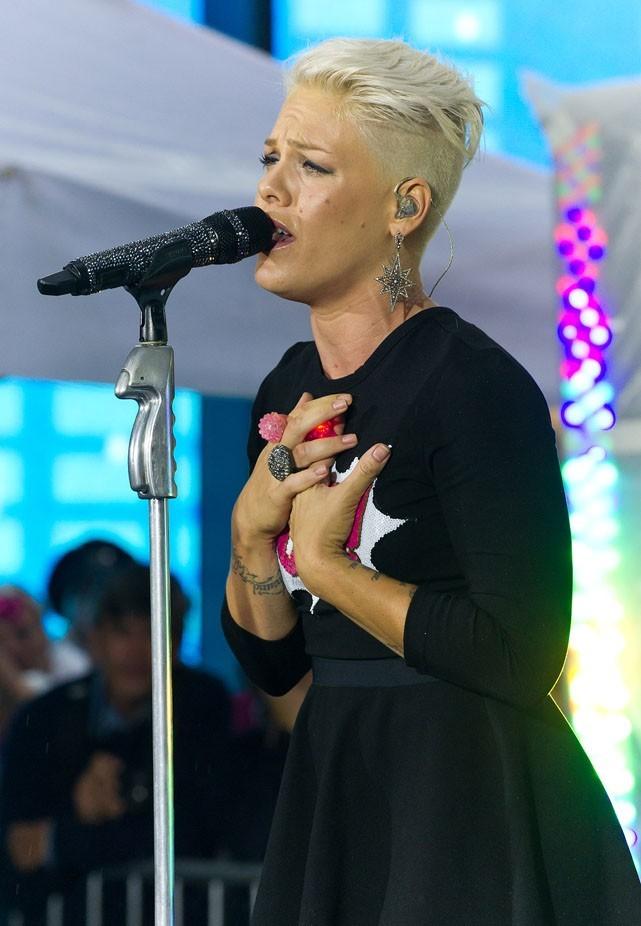 Pink sur le plateau du Today Show le 18 septembre