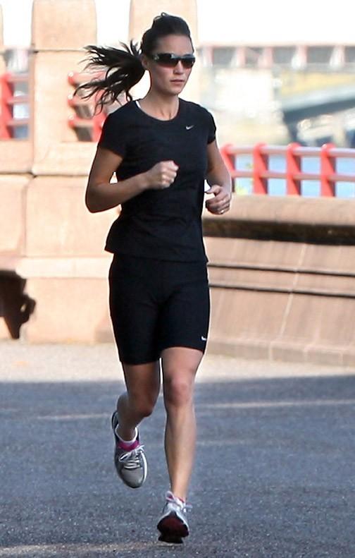 Hyper concentrée, Pippa ne rigole pas quand elle fait son footing !