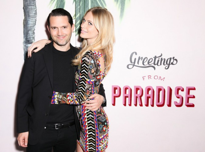 Poppy Delevingne et le photographe David Kettela à la soirée de lancement Solid & Striped, à New York le 12 novembre 2014