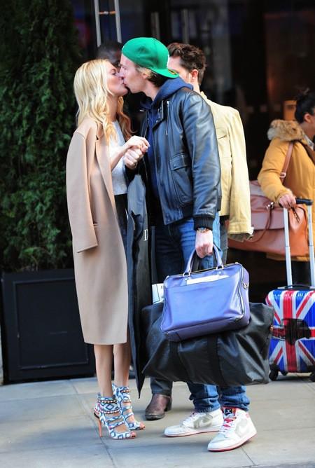 Poppy Delevingne et James Cook aujourd'hui à Londres