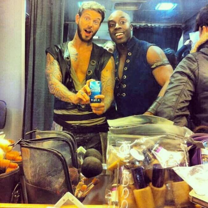 M. Pokora et Marc-Antoine, prêts pour le tournage du clip !
