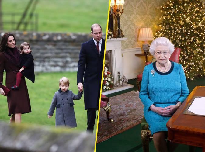 Photos : Première messe de Noël pour le Prince George et la Princesse Charlotte sans la reine Elizabeth II