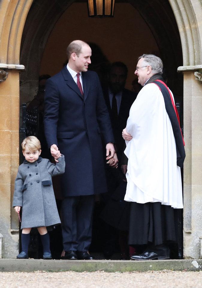 Première messe de Noël pour le Prince George dans le Berkshire avec sa soeur Charlotte et ses parents ce dimanche 25 décembre