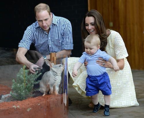 Le prince George avec Kate et William, le 20 avril 2014