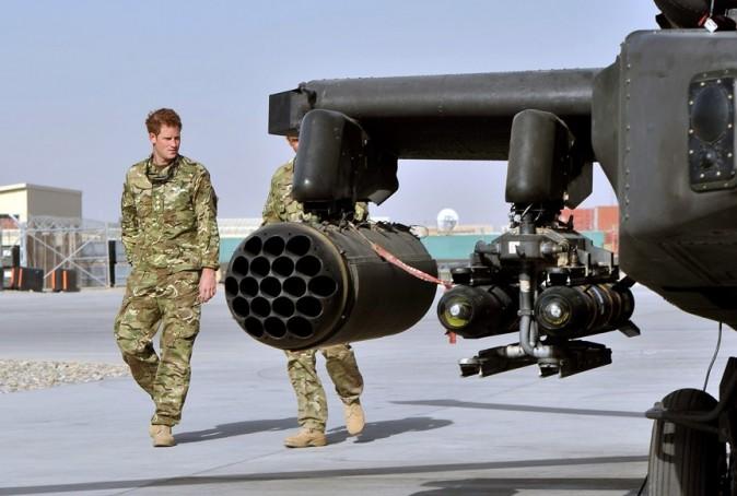 Le Prince Harry en Afghanistan le 7 septembre 2012
