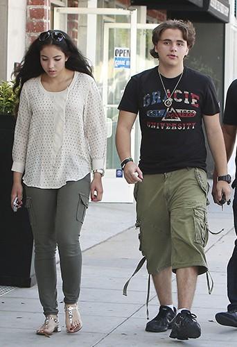 Prince Jackson et sa petite-amie à Beverly Hills le 3 août 2013