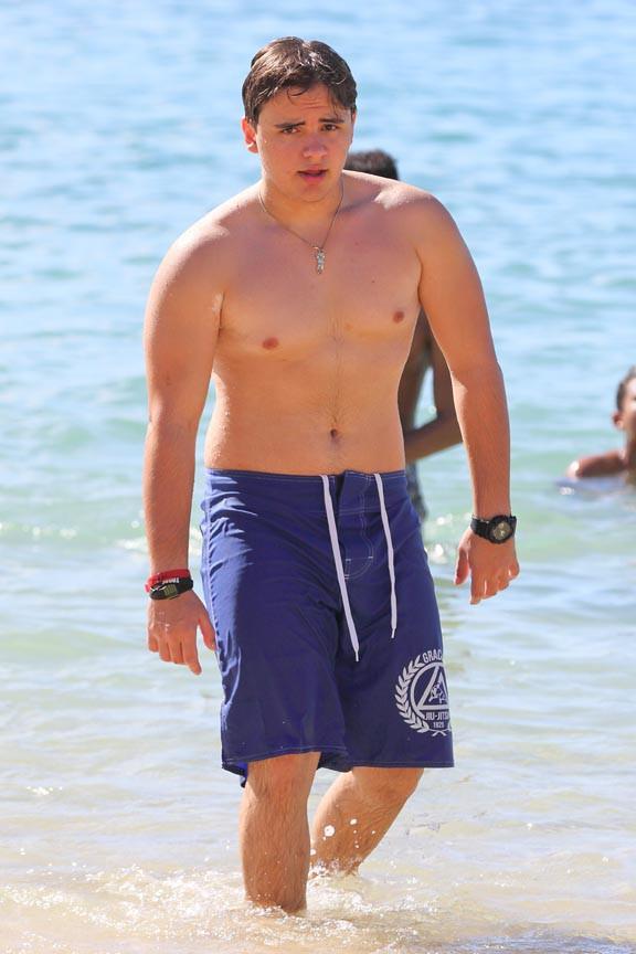 Prince Jackson à Honolulu le 24 décembre 2013