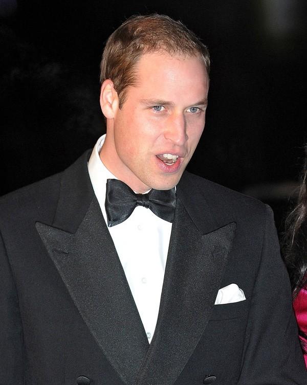 Le Prince William au au gala Winter Whites à Londres le 8 décembre 2012