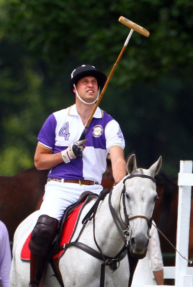Le Prince William au Jerudong Trophy, à Cirencester, le 14 juillet 2013