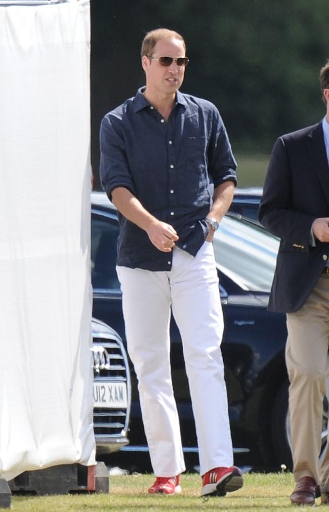 Le Prince William à Windsor pour un match de polo de charité le 3 août 2013