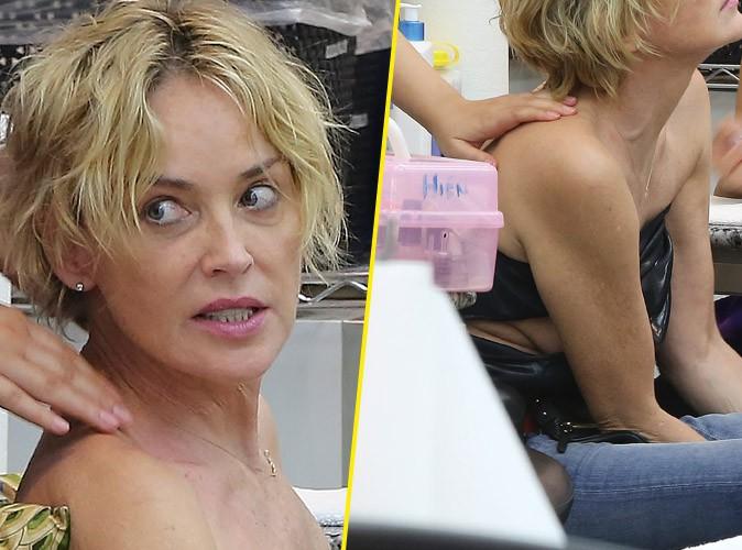 Photos : Quand le sein de Sharon Stone se fait la malle...