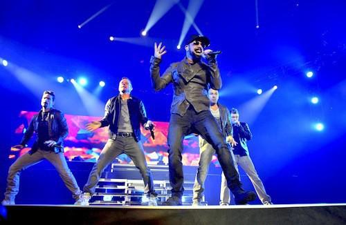 Les Backstreet Boys sur scène en février 2014