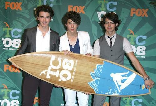 Les Jonas Brothers en 2008