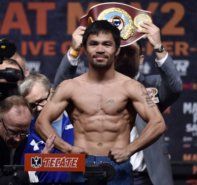 N°2 : Manny Pacquiao – 160M$