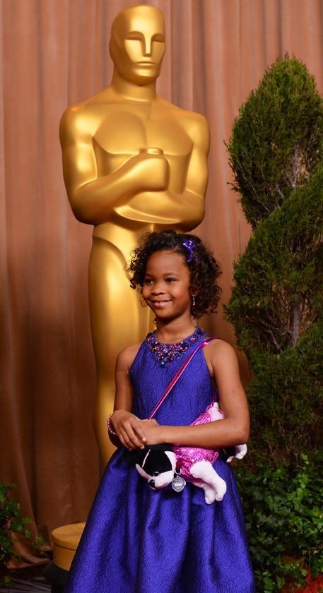 Quvenzhané Wallis au déjeuner des nommés aux Oscars à Los Angeles le 4 février 2013