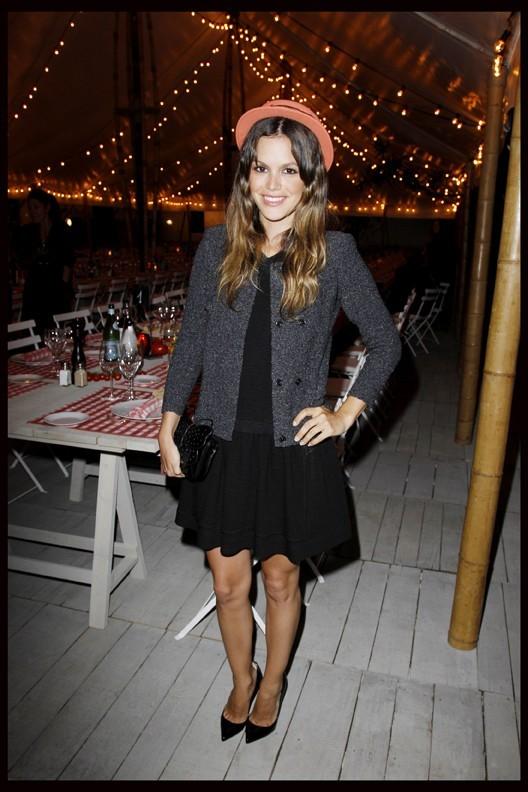 Rachel Bilson lors du dîner Chanel en l'honneur de Karl Lagerfeld à Antibes, le 8 mai 2011.