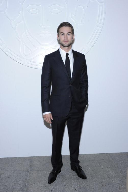 Chace Crawford au défilé Versace Hommes le 23 juin 2012 à Milan