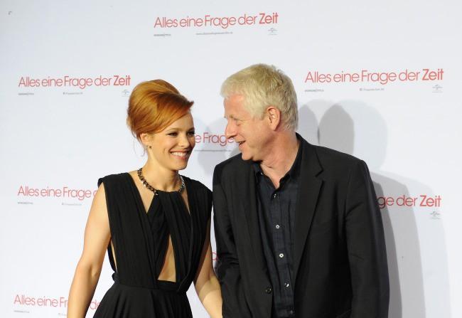 """Rachel McAdams et Richard Curtis lors de la première du film """"About Time"""" à Munich, le 10 août 2013."""