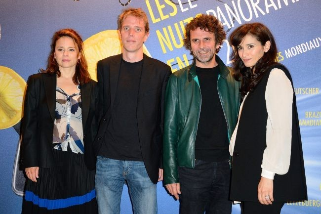 """Suzanne Clement, Nicolas Guiot, Eric Lartigau et Rachida Brakni lors du dîner des """"Nuits en Or 2013"""" à l'UNESCO à Paris, le 17 juin 2013."""