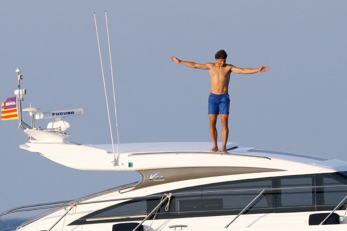 Rafael Nadal à Majorque le 24 juillet 2013