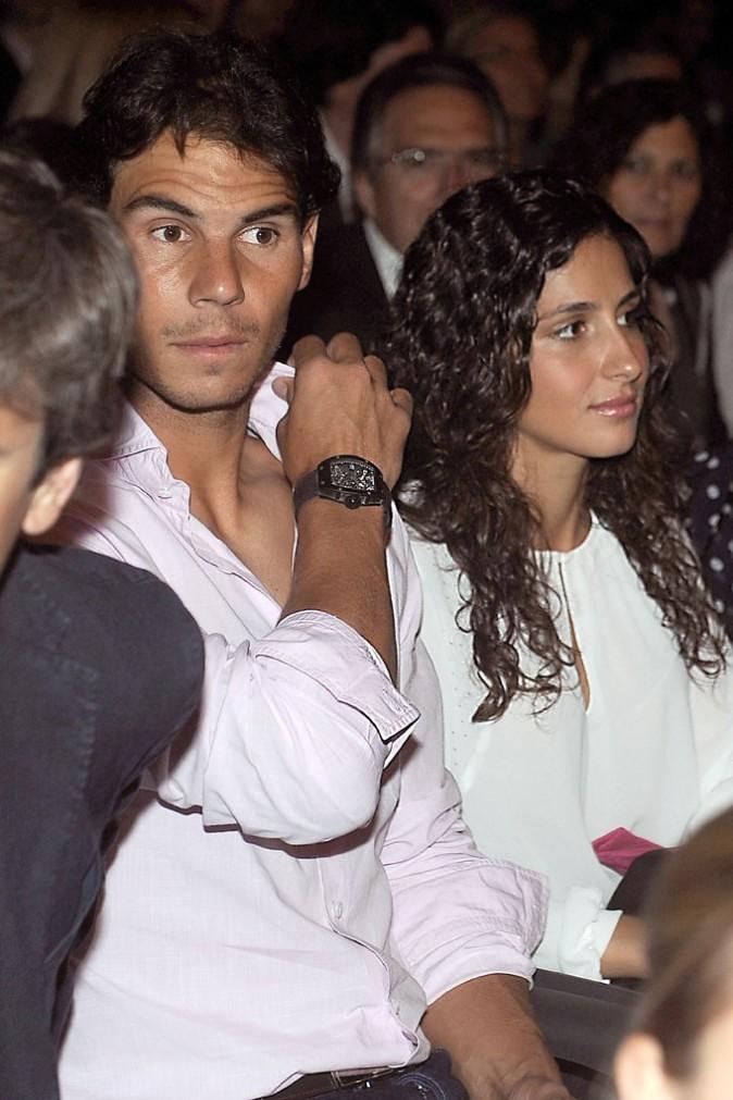 Rafael Nadal et sa girlfriend Maria Francisca Perello au concert de Julio Iglesias à Barcelone le 26 juin 2013