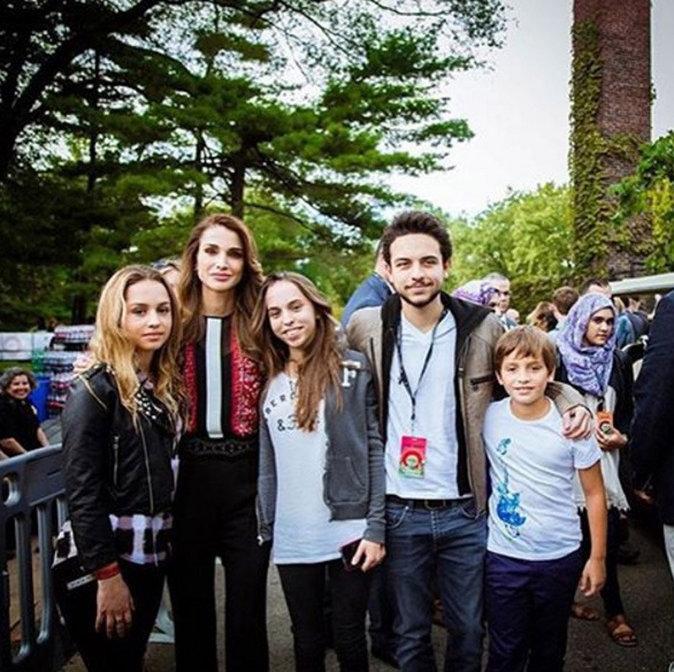 La reine Rania et ses enfants