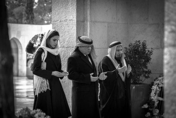 Photos : Rania de Jordanie : moment de recueillement avec Abdallah II...