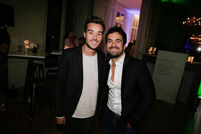 Alex Goude et son mari Romain à Paris le 17 septembre 2015