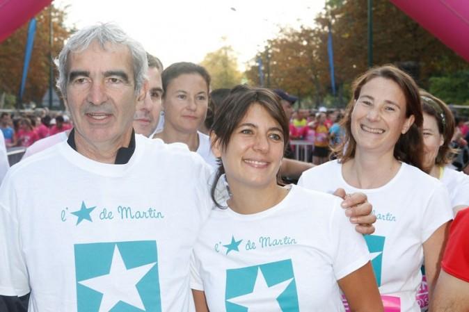 Raymond Domenech et Estelle Denis à Paris le 7 octobre 2012