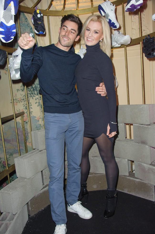 Katrina Patchett et son chéri Valentin à la soirée Reebok x Sandro organisée à Paris le 29 janvier 2015