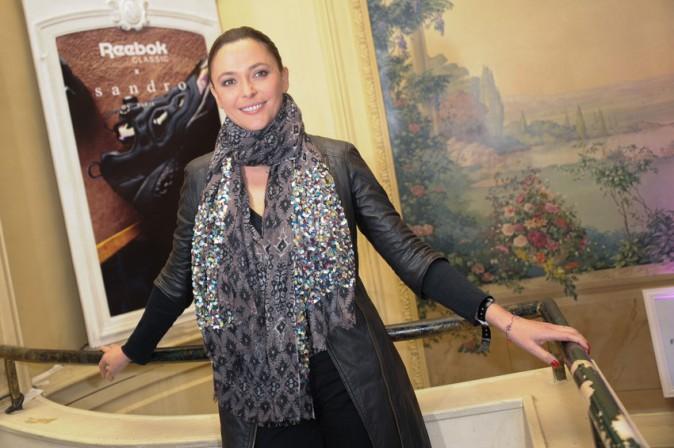 Sandrine Quétier à la soirée Reebok x Sandro organisée à Paris le 29 janvier 2015