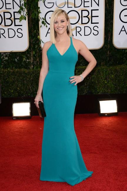 Reese Witherspoon lors de la cérémonie des Golden Globes à Los Angeles, le 12 janvier 2014.