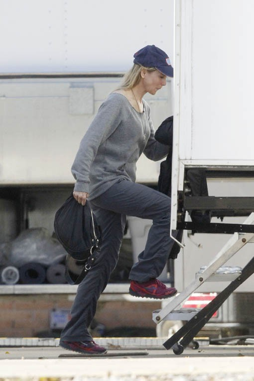 "Renée Zellweger sur le tournage du film ""Same Kind of Different as Me"" le 26 novembre 2014"