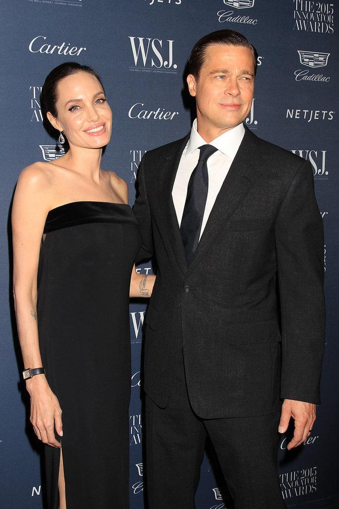 Angelina Jolie et Brad Pitt le 4 novembre 2015